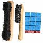 3 Set Billiards Pool Table and Rail Brush Including 12 Pieces Pool Cue Chalk