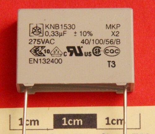 Rfi Supresor Condensador Iskra KNB1530 0,33uf 275Vac Clase X2