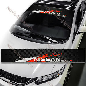 NISMO Front Window Windshield Carbon Fiber Vinyl Banner Decal ...