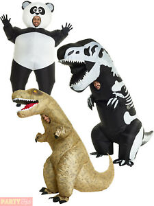 Image is loading Adult-Giant-Inflatable-Costume-Mens-Panda-Skeleton-T-  sc 1 st  eBay & Adult Giant Inflatable Costume Mens Panda Skeleton T-Rex Fancy Dress ...