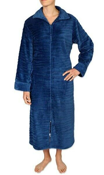 New 1X Velour Zipper Robe