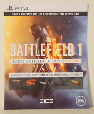 Battlefield 1 Early Enlister Deluxe Edition Content Download PS4 (NO GAME)