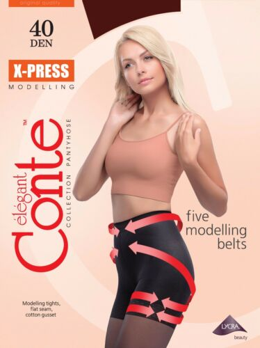 Conte TIGHTS X-press 40 DenSlimming Shaping Pantyhose with Modelling Shorts