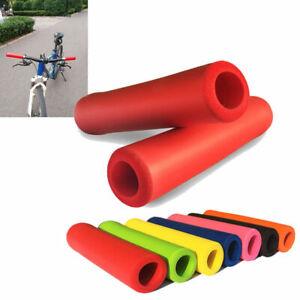 2x-Mountain-Bike-Bicycle-Motorcycle-Anti-slip-Soft-Foam-Handle-Bar-Hand-Grips