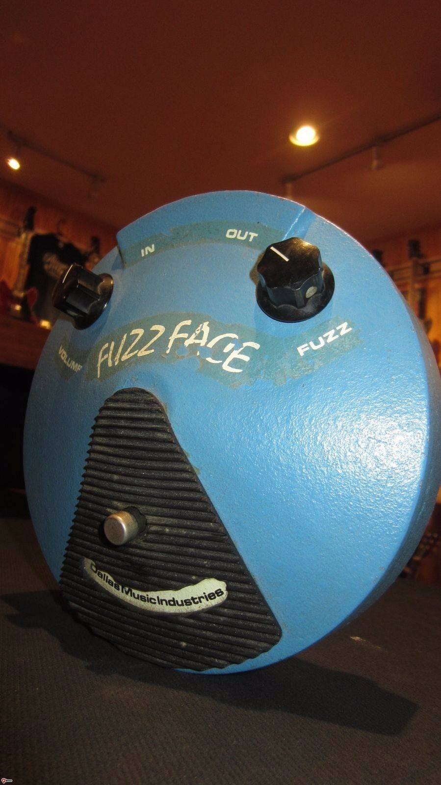 Vintage Orig 1976 Dallas Musical Fuzz Face Distortion Effect Pedal bluee Amazing