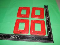 Lot Of 4 System Sensor D-mp Universal Wide Wall Mounting Plate Red