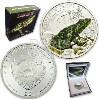 Inventive Palau 2011 $2 World Of Frogs Green Atelopus Certus 1/2 Oz Silver Coin Limited
