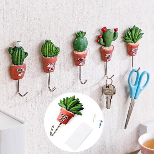 Wall Hook Hanger Bathroom Kitchen Sticky Towel Holder Strong Self-Adhesive