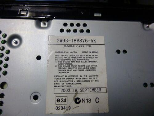 JAGUAR XJ8 VANDEN PLAS 2004-2005-2006-2007-2008-2009 CD PLAYER 2W93-18B876-AK