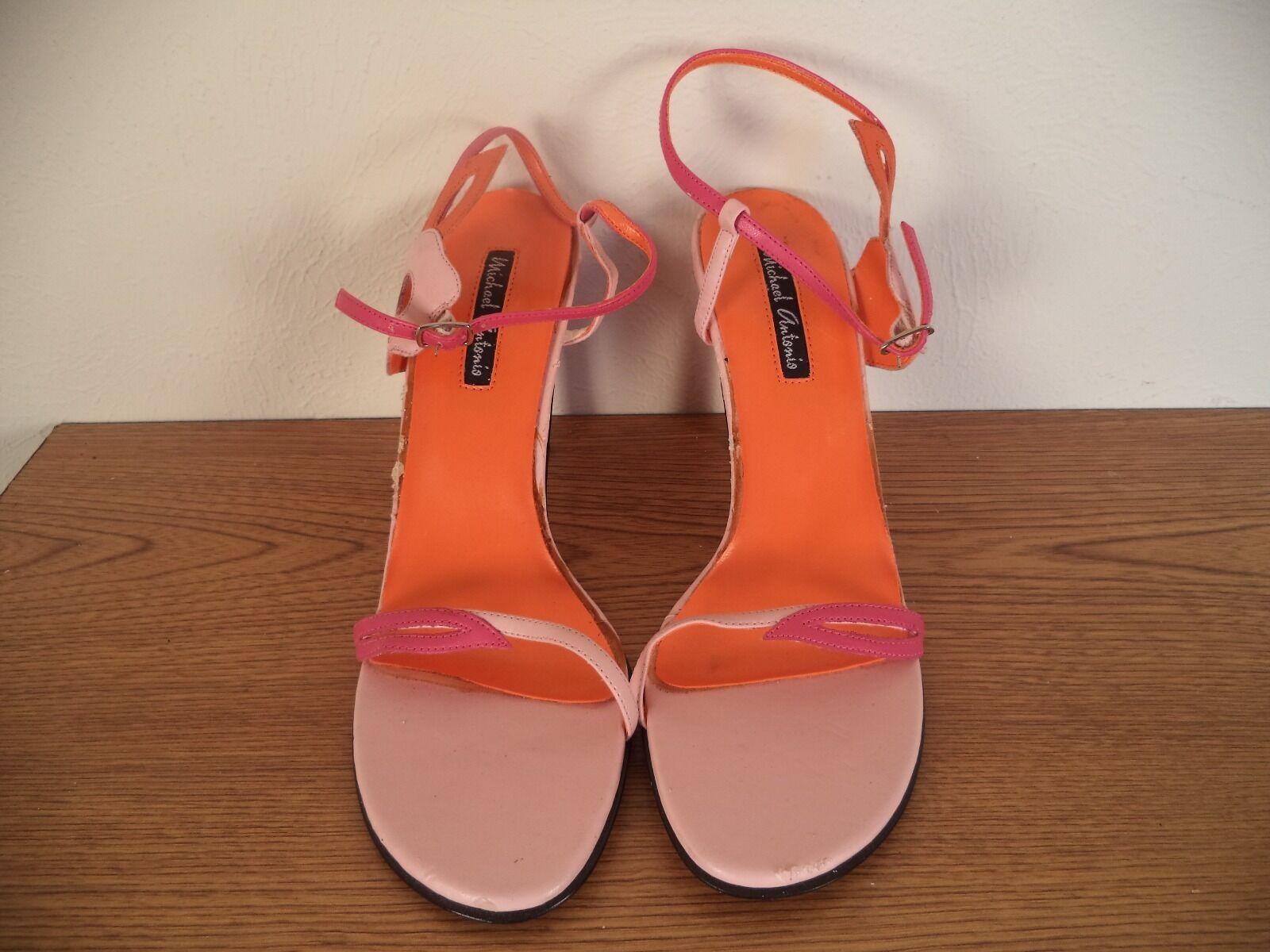 Women Shoe. Michael Antonio. Heels. Muliti Color. Size 8. Heels. Antonio. Open Toe. 848ca0
