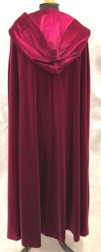 Longue Cape Manteau Soirée théâtre Cosplay Film Prod rose rouge mauve bleu noir