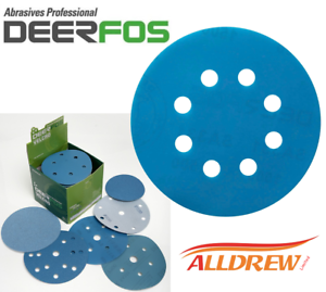 125mm-Wet-and-Dry-Sanding-Discs-5-039-039-Sandpaper-8-Hole-Film-Pads-40-3000-GRIT
