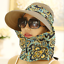 Women Summer Anti-UV Hat Casual Neck Face Wide Brim Visor Detachable Sun Cap New