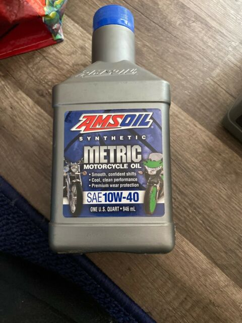 Amsoil Synthetic Metric Motorcycle Oil Sae 10w40 1 Quart For Sale