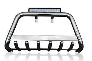 Bull-Bar-17-5-034-LED-bar-DRL-For-2010-15-Hyundai-iX35-Nudge-Chin-A-Bar-Stainless