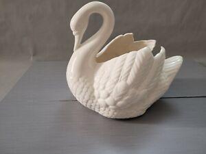 Vintage Holland Mold Swan Ceramic  Planter Vase 8.5'' T ~ 9.5'' L ~ 7'' W