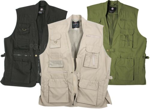 Nice Plain Clothes Concealed Carry Tactical Cargo Vest - Black Khaki or Olive free shipping