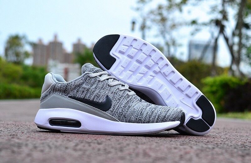 Nike Air Max Modern Flyknit Black White Wolf Grey Size 7