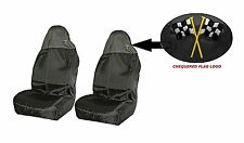 Front Heavy Duty Black Waterproof Car Seat Covers Universal Fit Airbag Ready