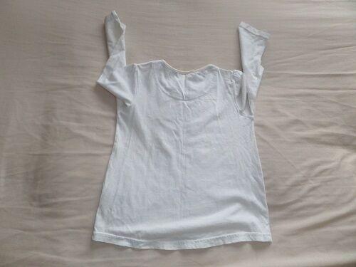 5f58325ab306 3 of 5 Matalan Girls White Animal Clock Print 100% Cotton T-Shirt Size 3-4