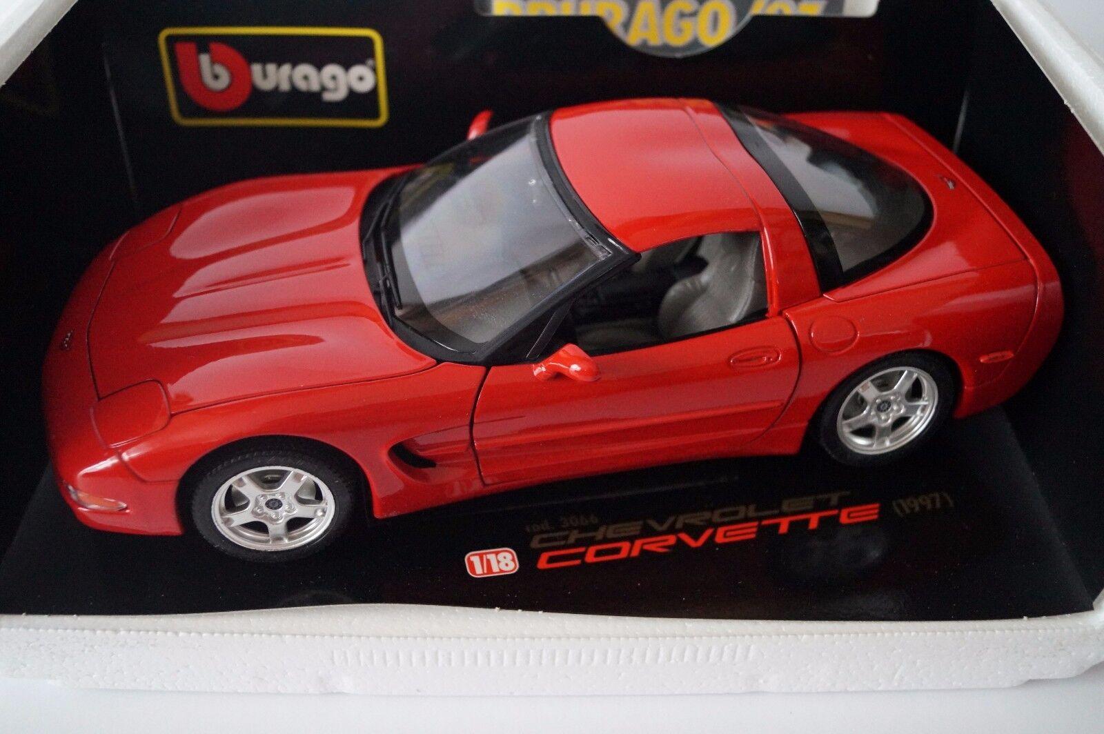Bburago Burago Modellauto 1 18 Chevrolet Corvette 1997 Cod. 3066 in OVP    Spielzeugwelt, glücklich und grenzenlos