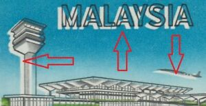 MALAYSIA-1965-AIRPORT-ERROR-VARIETY-WITH-BLACK-COLOUR-MISPLACED-CAT-RM-200
