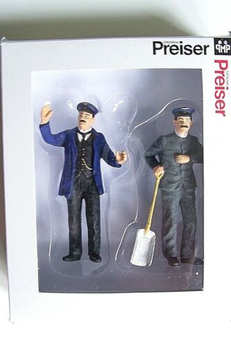 Preiser G 1:22.5 Old Time Engineer and Coal Stoker Figures 45050