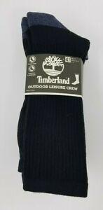 Timberland Men's 4 Pack Outdoor Leisure Crew Socks Assorted, Shoe Sz 9-12