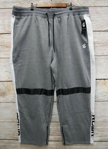 Rocawear-Big-amp-Tall-Mens-Size-5XL-Grey-Zipper-Bottom-Sweat-Jogger-Pants-New