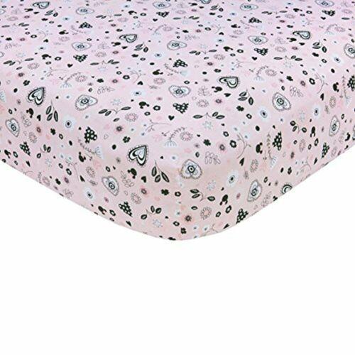 Disney Minnie Mouse Hello Gorgeous Crib Sheet Pink//Black//White