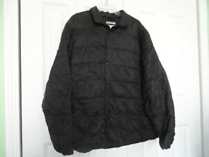 Men S Size Xxl 2xl Black Quilted Puffer Jacket From