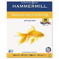 Hammermill Premium Multipurpose Paper 24-lb. 8-1/2 X 11 White 2500/carton 105810 on sale