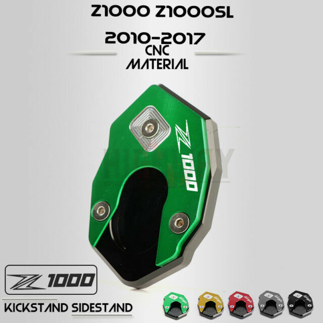 CNC Motorcycle Side Stand Kickstand Pad For Kawasaki Z1000 2010-17 Z1000SX 11-16