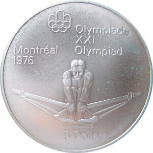 CANADA  KM  91  5 Dollars Olympia RUDERN  1974  STG