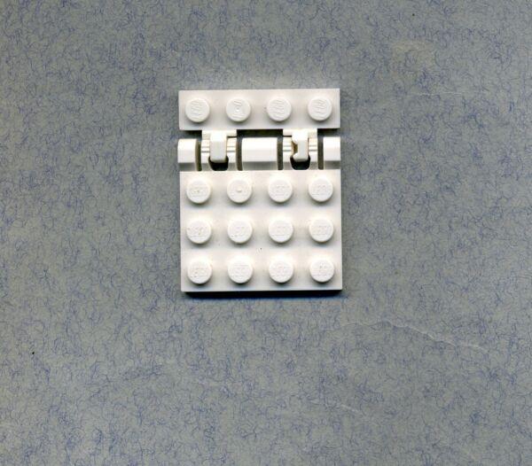 Capable Lego -- 44570 -- Grille Charnière -- 4 X 4 -- Blanc-avec 44568-grille -1 X 4 --asterscharnier-- 4 X 4 -- Weiß - Mit 44568 -raster -1 X 4 -