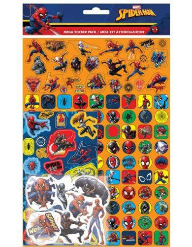Proyectos De Papel Mega Pack Lámina De Pegatinas Reutilizables Spiderman Edad 3