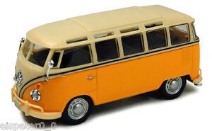 VW-T1-Samba-Bus-gelb-weis-Cararama-Auto-Modell-1-43