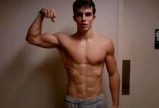 Shirtless Male Muscular Frat Jock Flexing Athletic Cute Dude Bod PHOTO 4X6 F2066