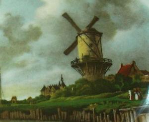 Atmospheric-Windmill-Scene-Bone-China-Plate-Pall-Mall-Ware