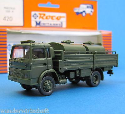 Roco Minitanks H0 420 MAGIRUS 168 M mit TANKANLAGE LKW Bundeswehr OVP HO 1:87