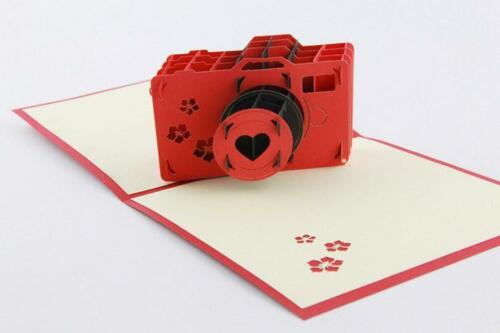Creative 3D Handmade Lomo Camera Birthday Greeting Card valentine/'s day Gift NC5