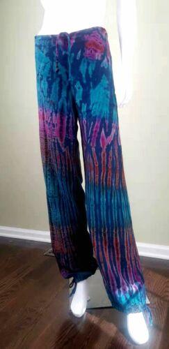 Unbranded Color-Painted Cotton/Linen Casual Pants,