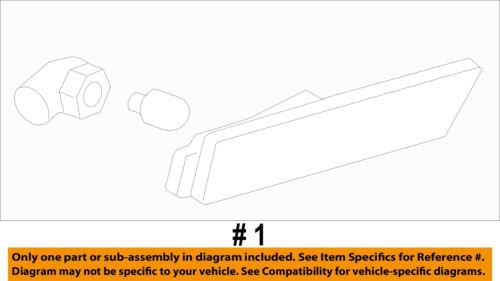 Chevrolet GM OEM Side Marker Light Lamp-Marker Lamp Assembly Left 92246245