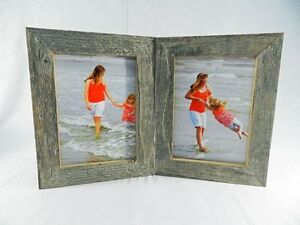 image is loading 4x5 4x6 5x7 8x10 barnwood rustic weathered picture - Double 5x7 Picture Frame