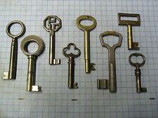LOT OF 8 ANTIQUE SKELETON, FURNITURE, BARREL, CABINET AND OLD LOCK KEYS