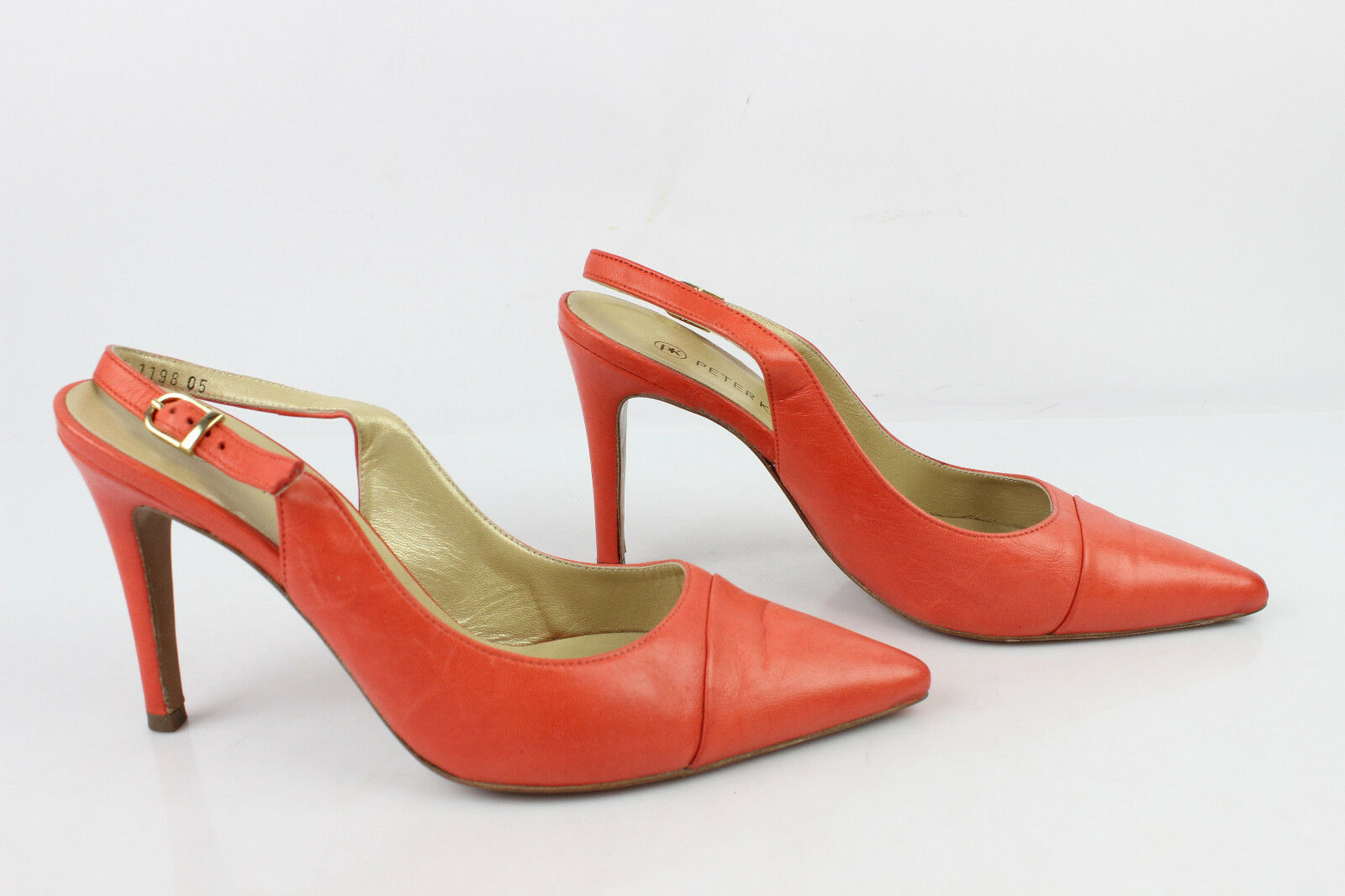 Open Court Court Court shoes PETER KAISER All Leather orange UK 5,5 FR 38,5 807bde