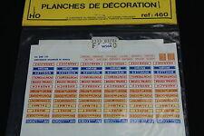 W564 MKD Train MaquetteHo 460 Planches de décoration gare nom ville diorama