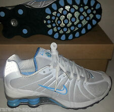 NIKE SHOX OZ SI TURBO RUNNING/WORKOUT SHOES GRAY/BLUE/WHITE WOMENS