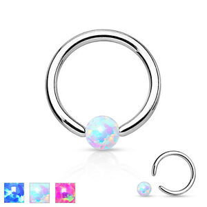 Surgical-Steel-Opal-Ball-BCR-Captive-Bead-Ring-CBR-Cartilage-Tragus-Hoop-Ring
