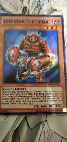 Super Rare Inzektor Centipede MINT Yugioh AP01-EN007
